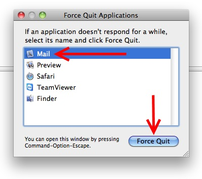 Force Quit Mac Mail